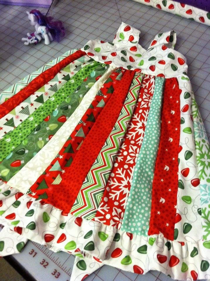 Christmas strip pattern dress