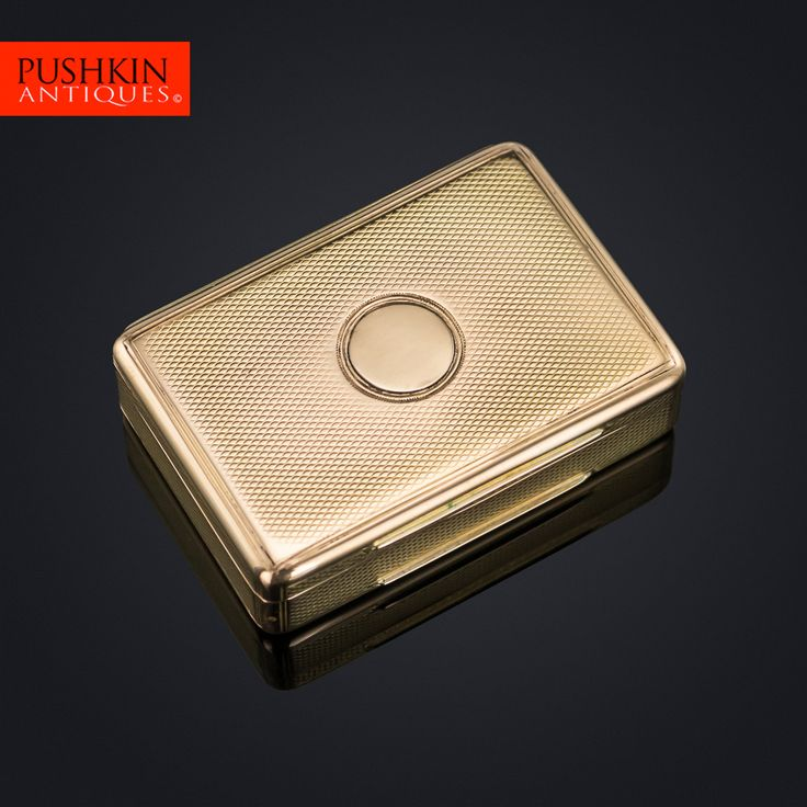 ANTIQUE 19thC GEORGIAN 18K SOLID GOLD SNUFF BOX, JOSEPH NOWILL c.1820