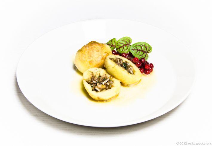 Vegetariska kroppkakor med svamp