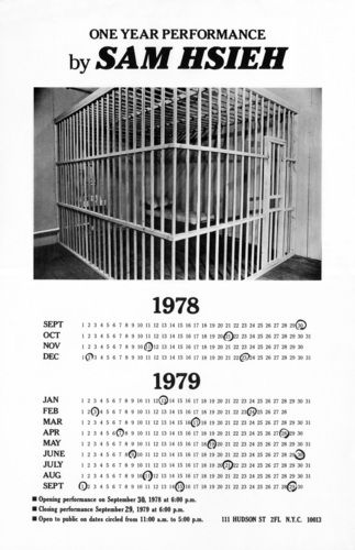 Tehching Hsieh | One Year Performance (Cage Piece), 1978-1979