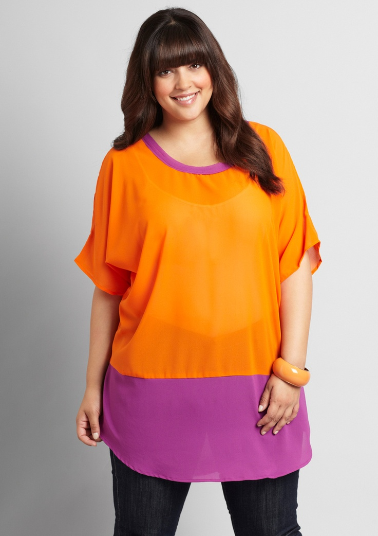 We love this orange pop!Curve, Orange Purple Combos, Orange Crushes, Orange Pop