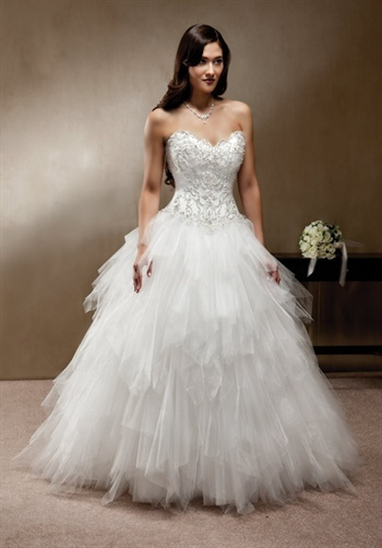 Fluffy wedding dress wedding dressses and wedding on for Fluffy skirt under wedding dress