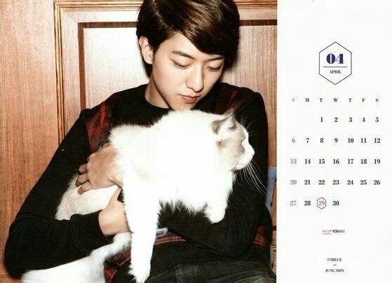 CNBLUE Calendar 2014 April