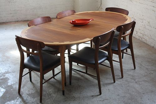 Splendid lane acclaim mid century modern expandable round dining table and chairs u s a 1960s - Modern expandable round dining table ...