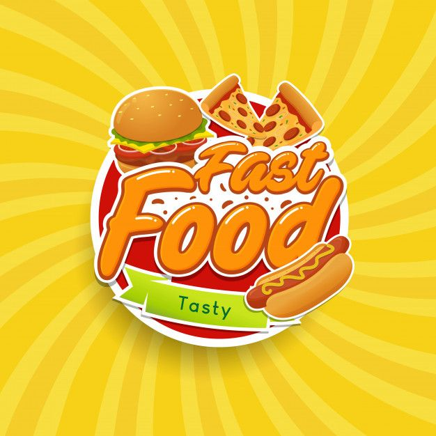 Fast Food Logo Emblem Fast Food Logos Logo Food Food Logo Design