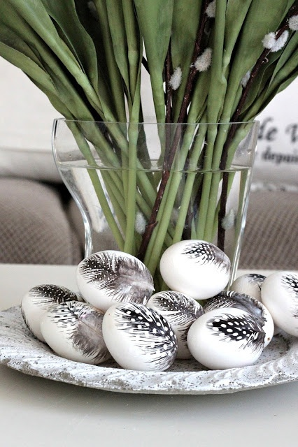 Feather Easter Egg Decor