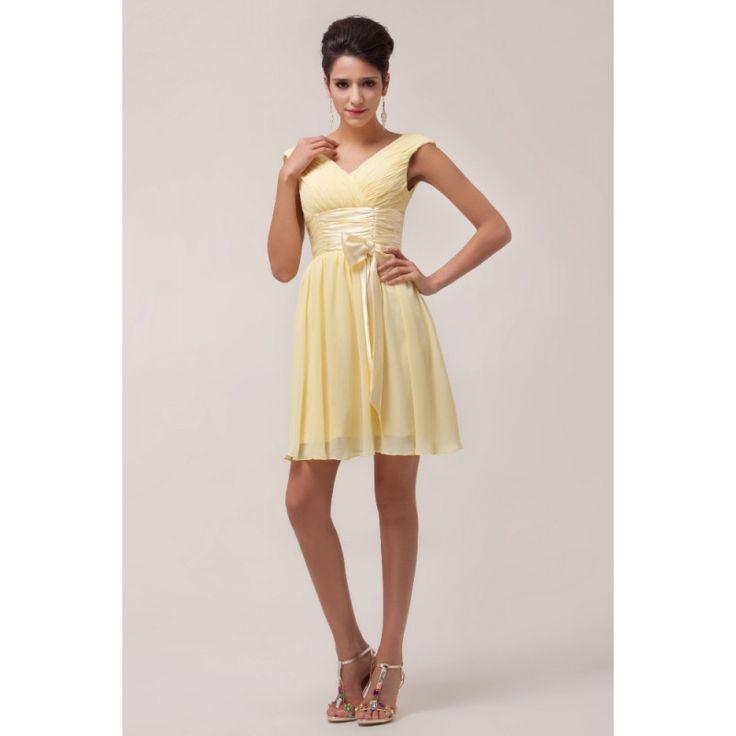 Žlté koktejlové šaty Dionysia
