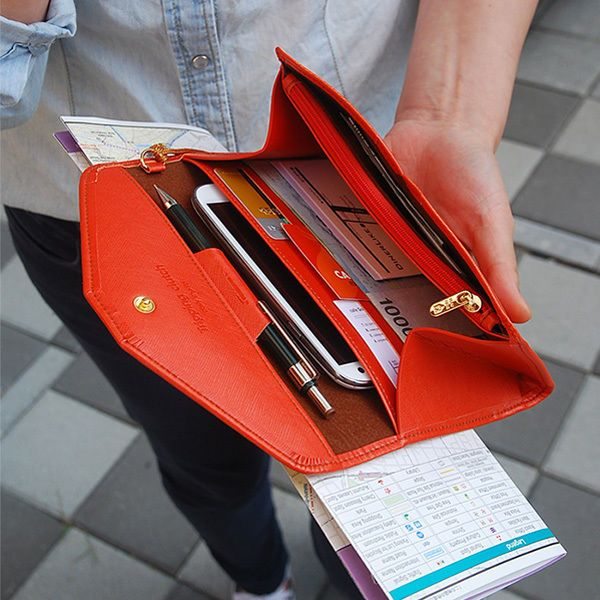 9 Colors Tripping Clutch Wristlet iphone 6 plus Passport Card Holder Wallet #Handmade #Clutch