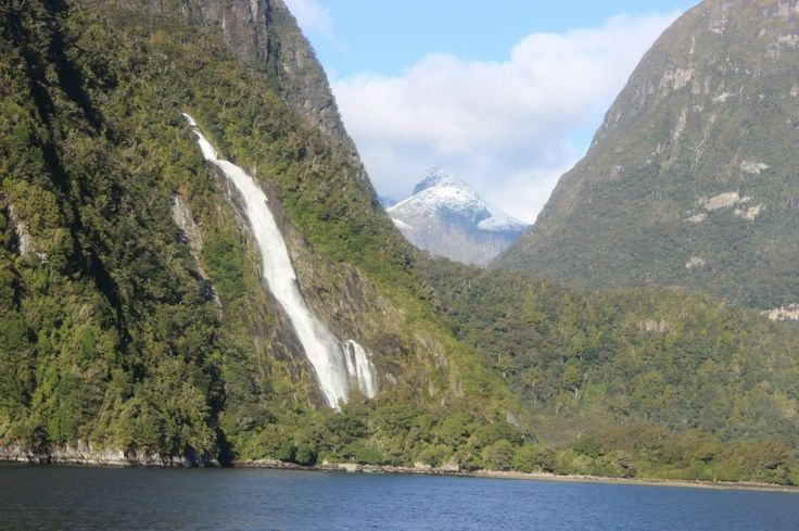 Milford Sound  - Bowen Falls. The first and last waterfall you will experience along Milford Sound. A beautiful sight to welcome you to the stunning fiord. #UltimateQueenstown