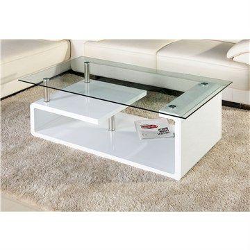Coffe Table, 8Mm Temp Glass, High Gloss   Livingstyles