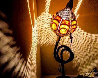 100% HANDMADE Gourd lamp Kürbislampe handcrafted Lampshades fairylight chandelier calabash night floor lamps Christmas, Halloween gift ideas