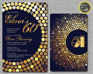 Studio 54 disco party invitation. Find more party ideas at: http://sparklerparties.com/studio-54/