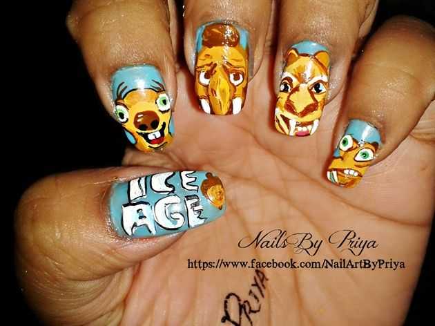ice age movie nails - Nail Art Gallery nailartgallery.nailsmag.com by NAILS Magazine www.nailsmag.com