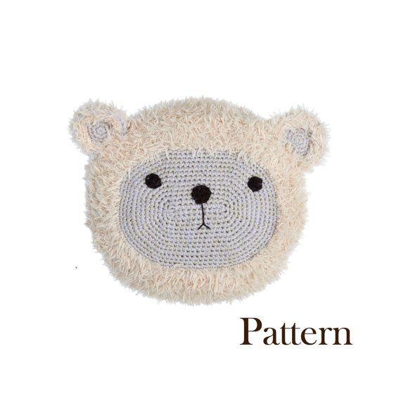 Crochet Bear Pillow Pal Cushion Softie Pattern  by roamingpixies