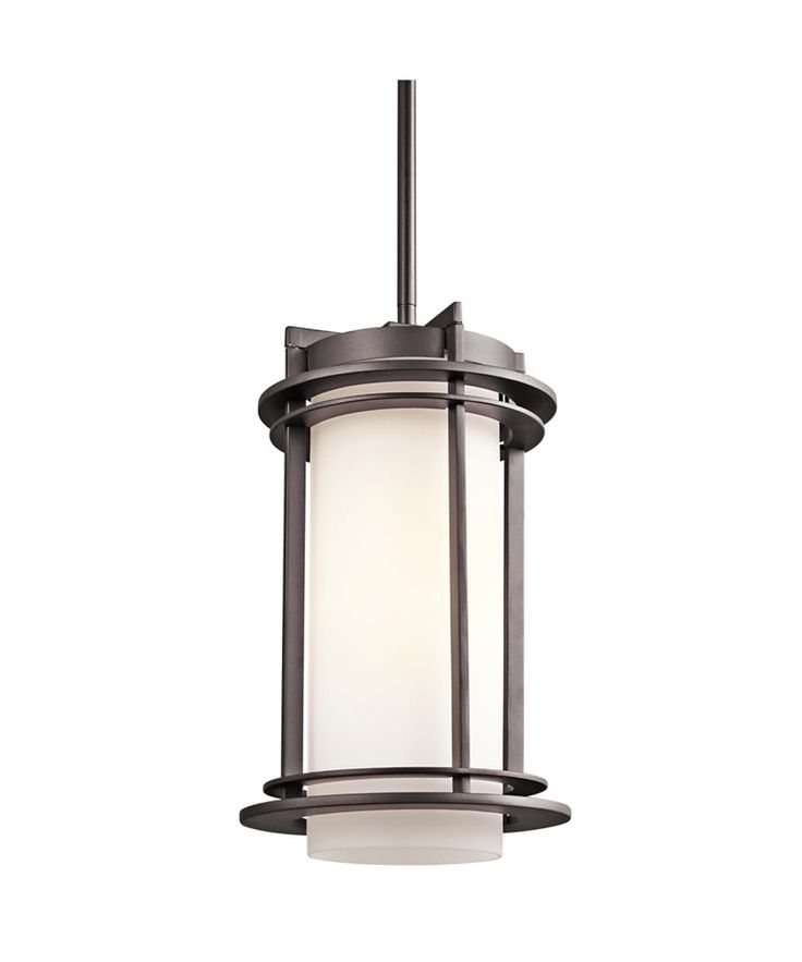 Pacific edge outdoor pendant 1 light shown in architectural bronze by kichler lighting 49348az