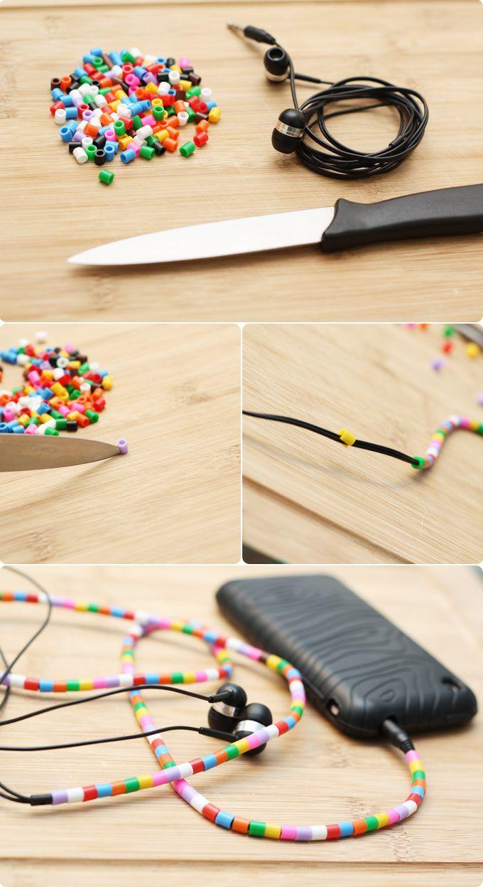 Hama bead headphones