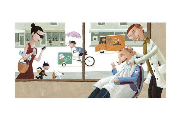 Coiffeur * Barber * Rogé * Acrylic * Illustration * Art * Children's Books