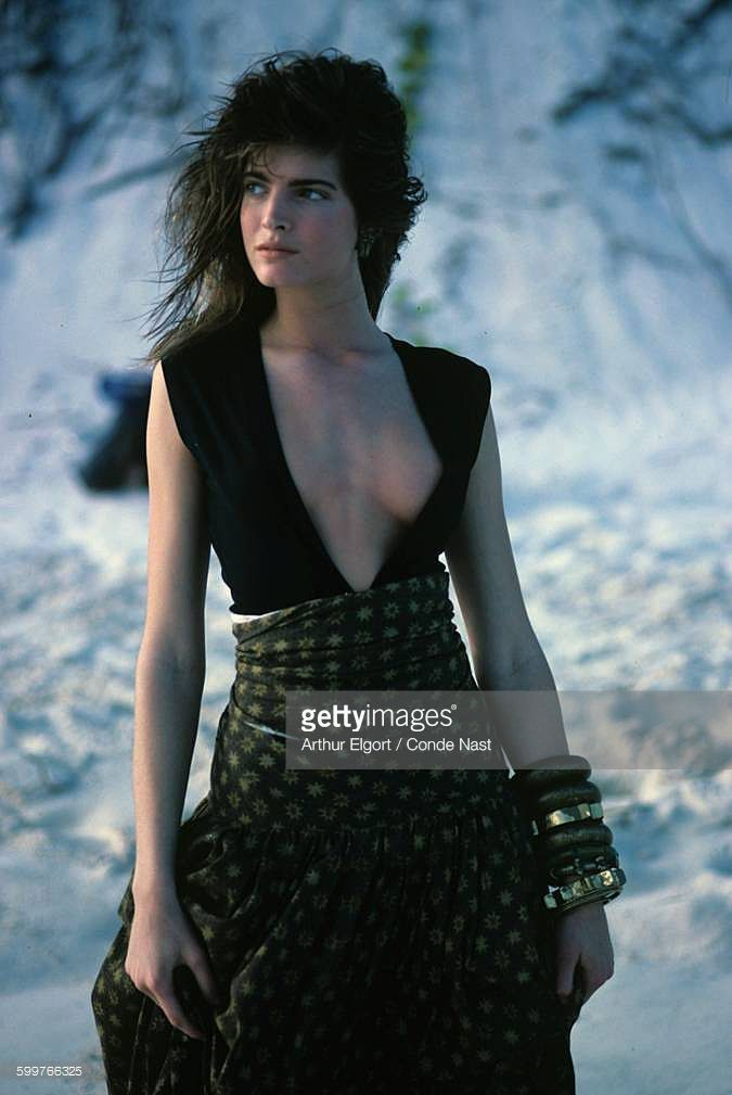 News Photo : Model Stephanie Seymour wearing Callaghan's...