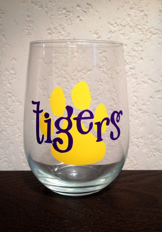 Tigers - LSU Glass
