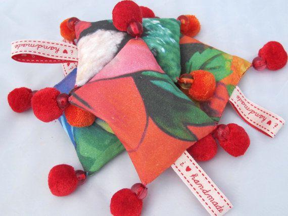 Pom Pom Lavender Bag by MrsMacBeth on Etsy, £8.00