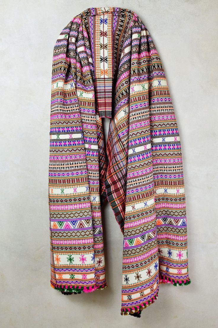 Striped Multi Color Weaved Shawl