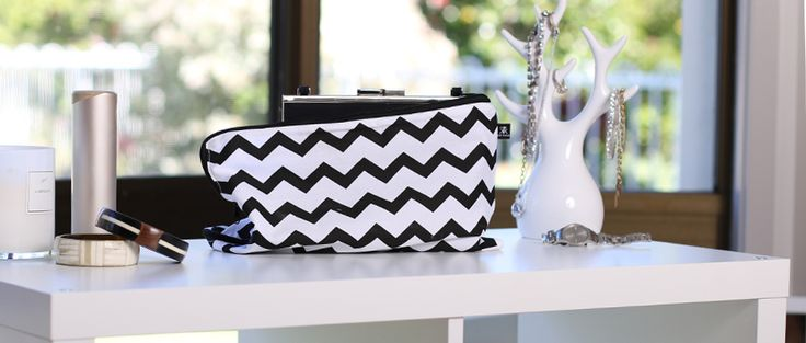 Chevron pattern handbag cover from Kazzi Kovers