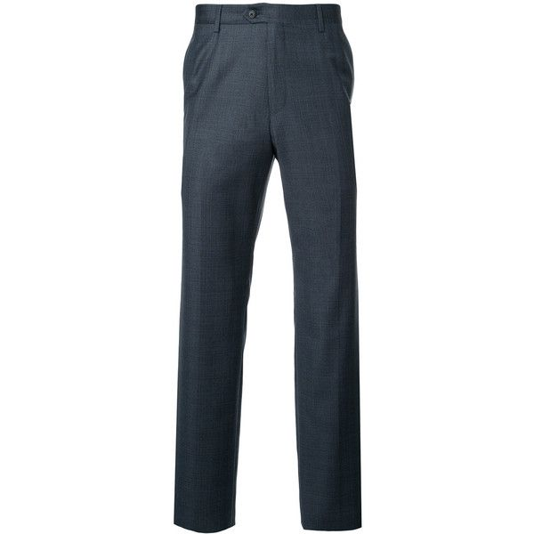 Gieves & Hawkes slim fit tailored trousers (28.675 RUB) ❤ liked on Polyvore featuring men's fashion, men's clothing, men's pants, men's dress pants, blue, mens slim fit dress pants, mens wool pants, mens zipper pants, mens slim dress pants and mens slim fit pants