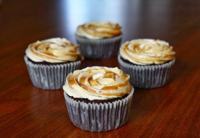 Skildpadde-cupcakes med romkaramelcreme