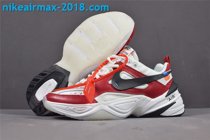 new concept aec00 2af44 New Arrival Women s Off-White x Nike M2k Tekno AO3108-060 White Red Black