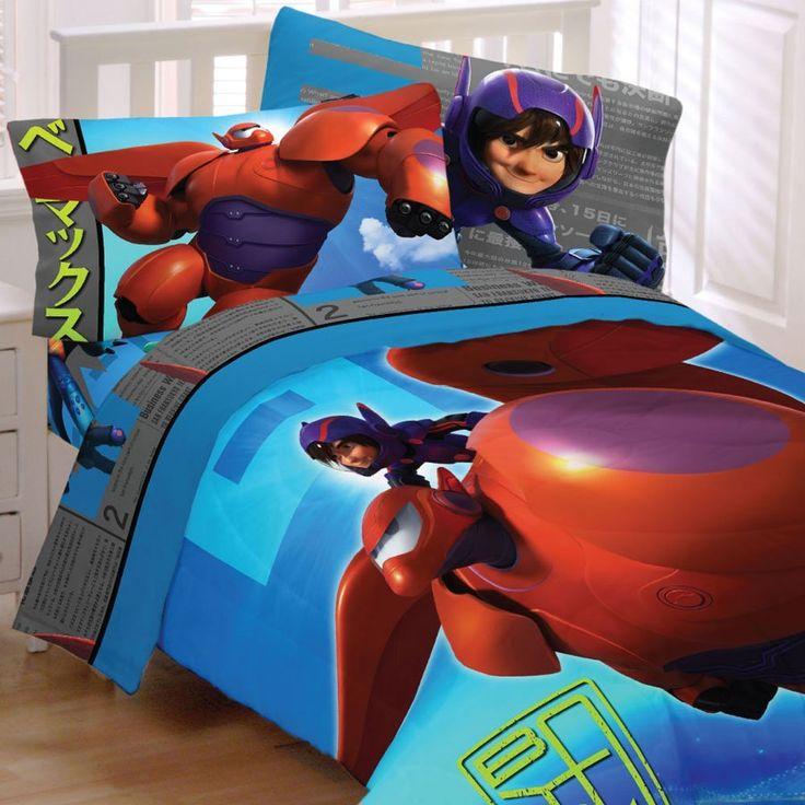 4pc Disney Big Hero 6 Twin Bedding Set Heroic Robot Comforter and Sheet Set //Price: $50.02 & FREE Shipping //     #bedding