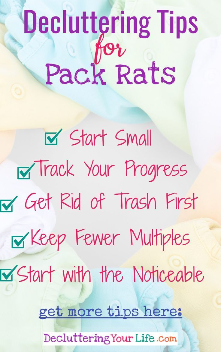 Simple decluttering tips for self-proclaimed Pack Rats. YES! You can be neat, organized and clutter-free too!