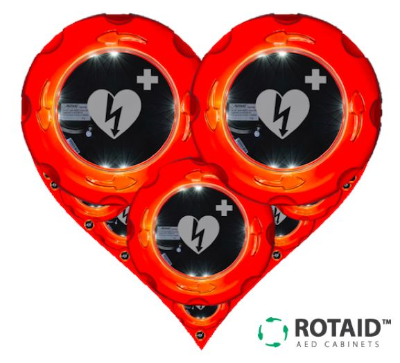 Our products come from the heart. The Rotaid AED Cabinets protect what is vital in Sudden Cardiac Arrest situations.