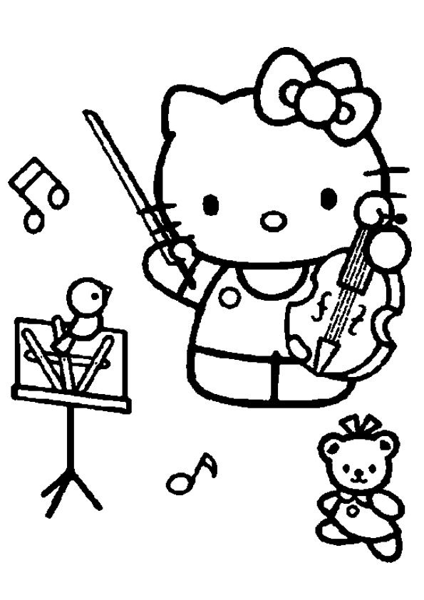 Hello Kitty Cheerleader Coloring Pages : Best images about coloring hello kitty on pinterest