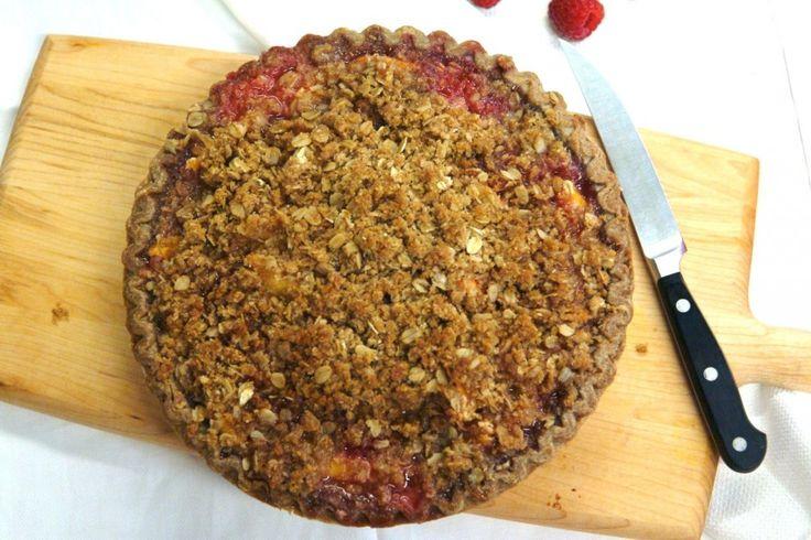 Peach, Plum, and Raspberry Crumble Pie | Cakes & Pies | Pinterest