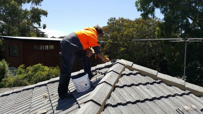 Tile roof rebed and repoint. Click4Trades 1800487233
