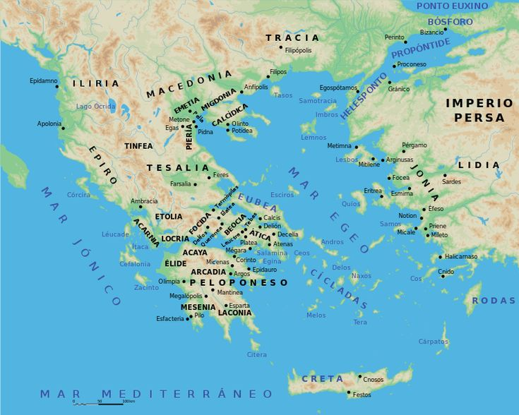 ***Mapa de Grecia antigua