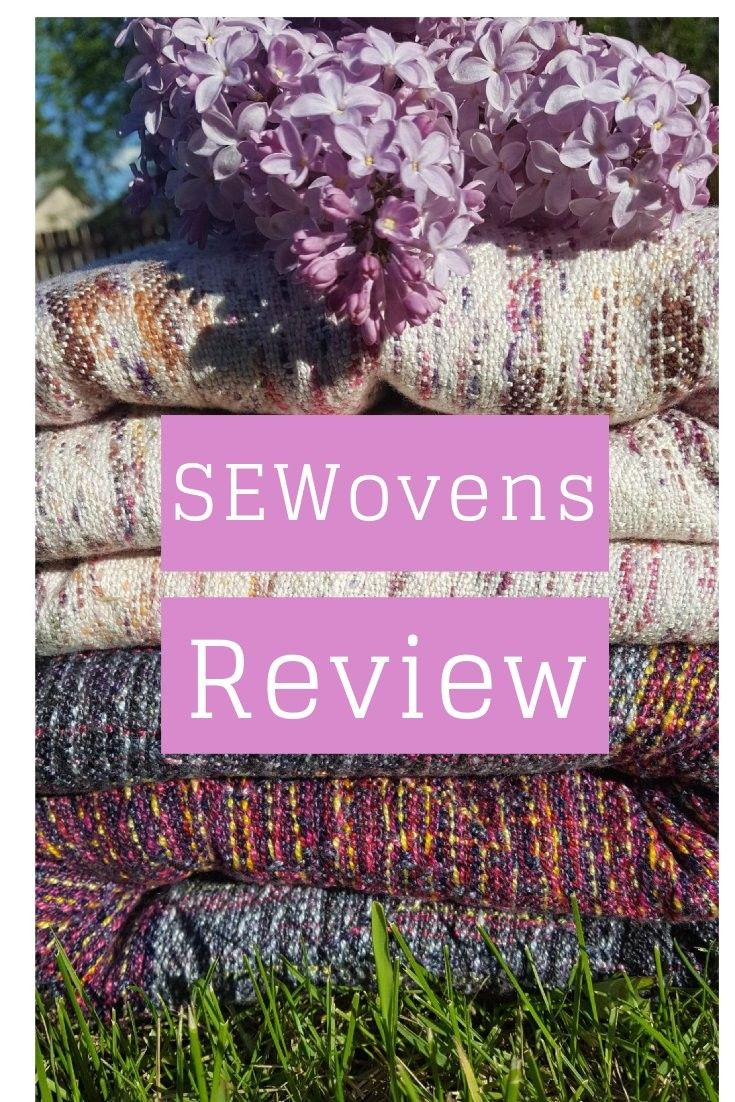 Babywearing Review on two different handwoven baby wraps. Weaving can be very different in each wrap, see how I compare and review the wrapping qualities here.