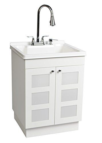 LDR 7712CP-SD Laundry Utility Cabinet Sink Vanity Chrome Faucet with Pull Out Spray and Soap Dispenser #Laundry #Utility #Cabinet #Sink #Vanity #Chrome #Faucet #with #Pull #Spray #Soap #Dispenser