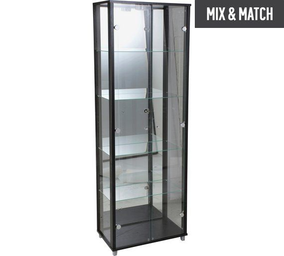 Buy HOME 2 Door Glass Display Cabinet - Black at Argos.co.uk, visit Argos.co.uk to shop online for Display cabinets and glass cabinets, Dining room furniture, Home and garden