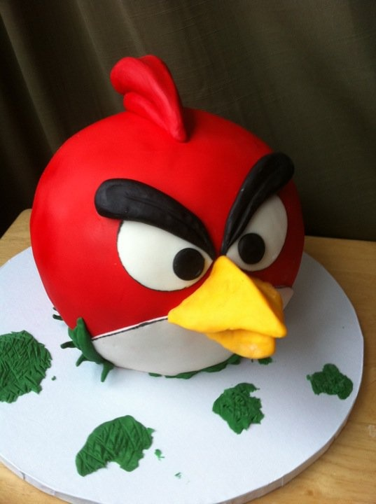 Image Of Angry Birds Cake