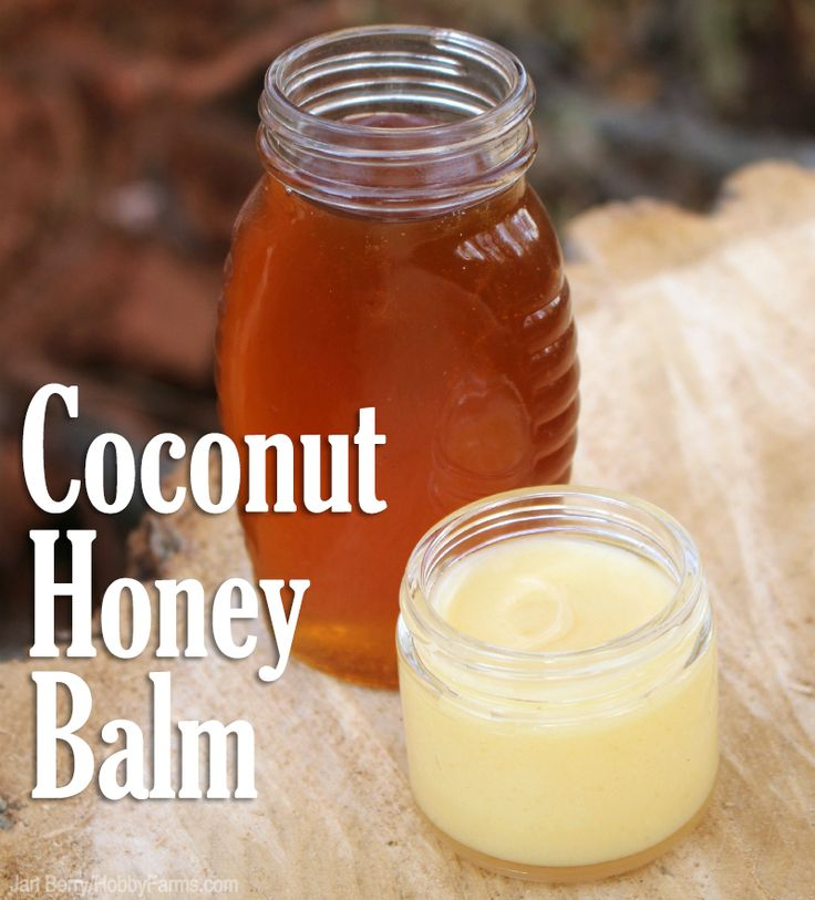 Simple homemade coconut honey balm: 4 T. coconut oil 1 T. beeswax 1 tsp. honey