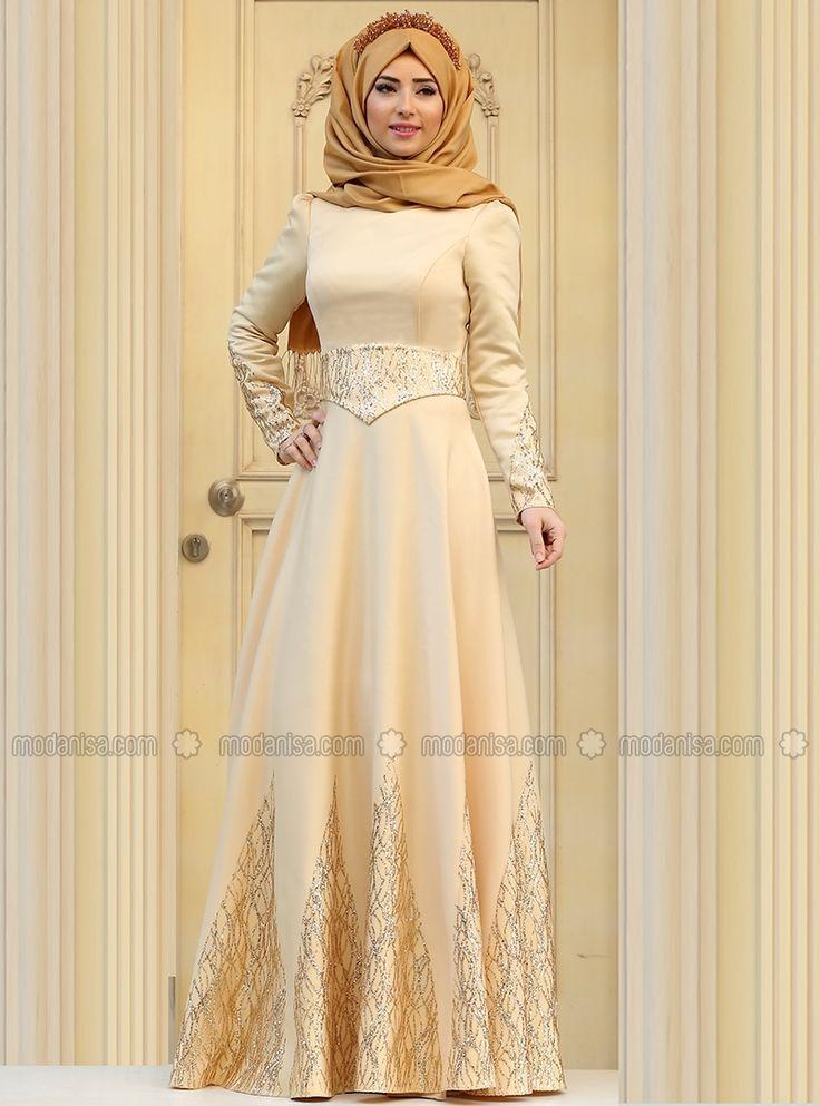 Linda Evening Dress - Gold - Zehrace