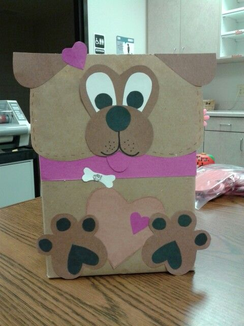 Valentine box I made. Puppy!!