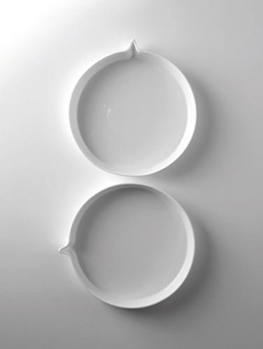 Zo mooi, het tekstballonservies van Peter Goossens  - Tableware by serax