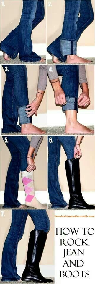 How 2 rock jeans and boots