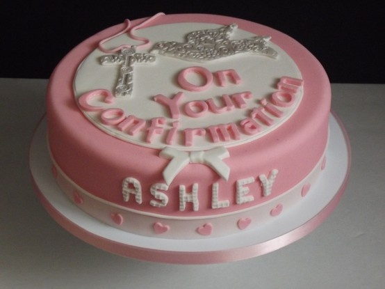 A Beautiful Pink Confirmation Cake For Ashley Caking