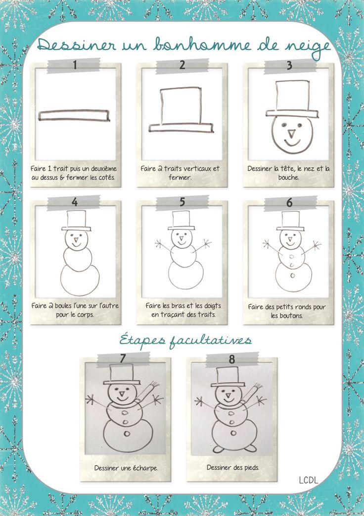 La maternelle de Laurène: Dessiner un bonhomme de neige