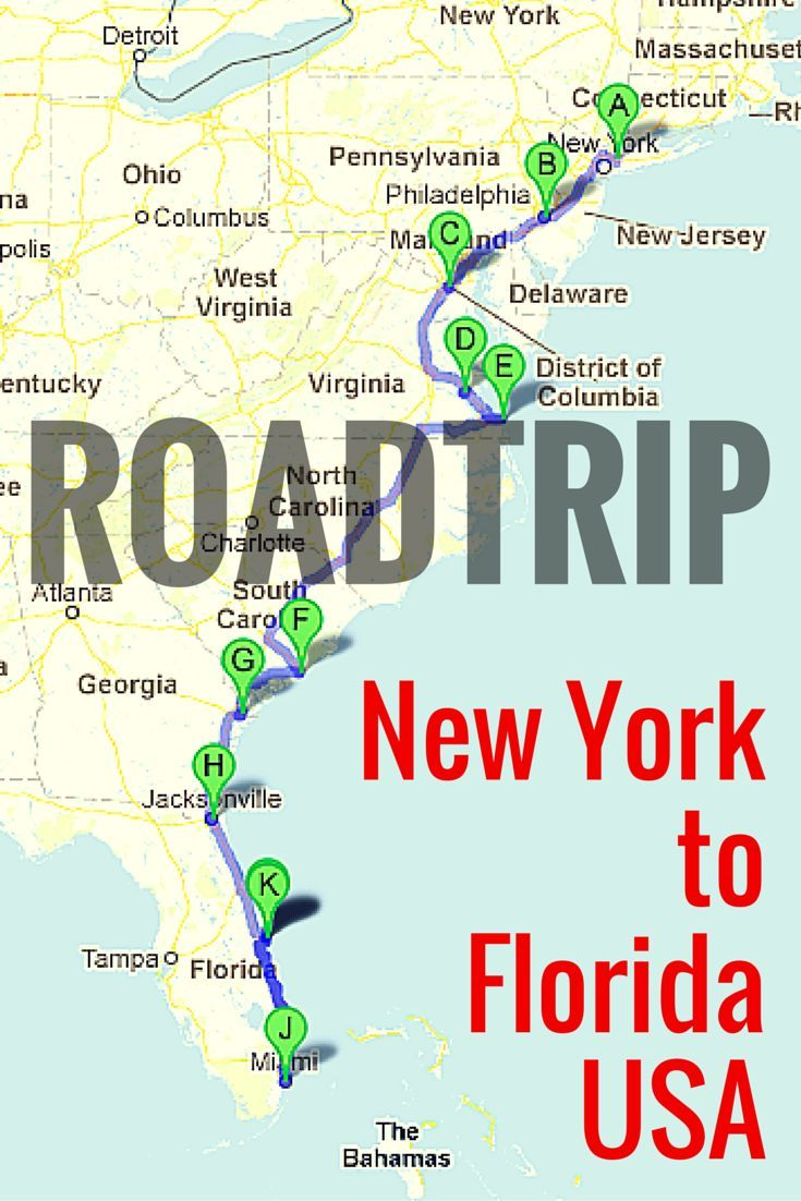 Best Road Trips Images On Pinterest - East coast usa highway map