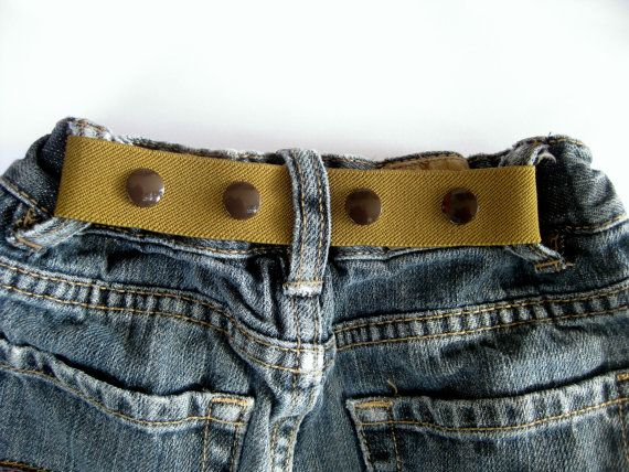 ELASTIC SNAP BELT for Children / Neutral Colors - Khaki, Green or Olive / by SweetSparrowDesign