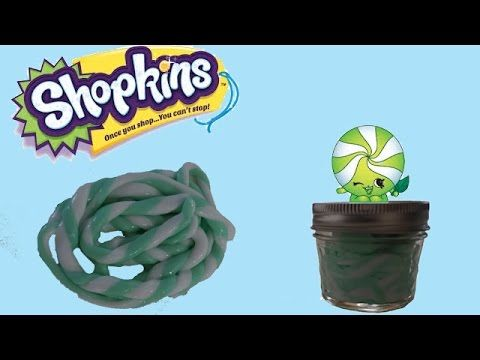DIY SHOPKINS SLIME de mini mint! - YouTube